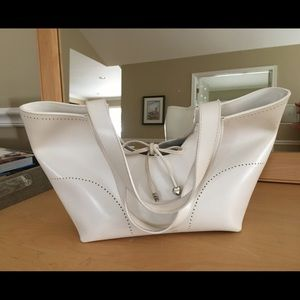 FURLA White leather shoulder bag